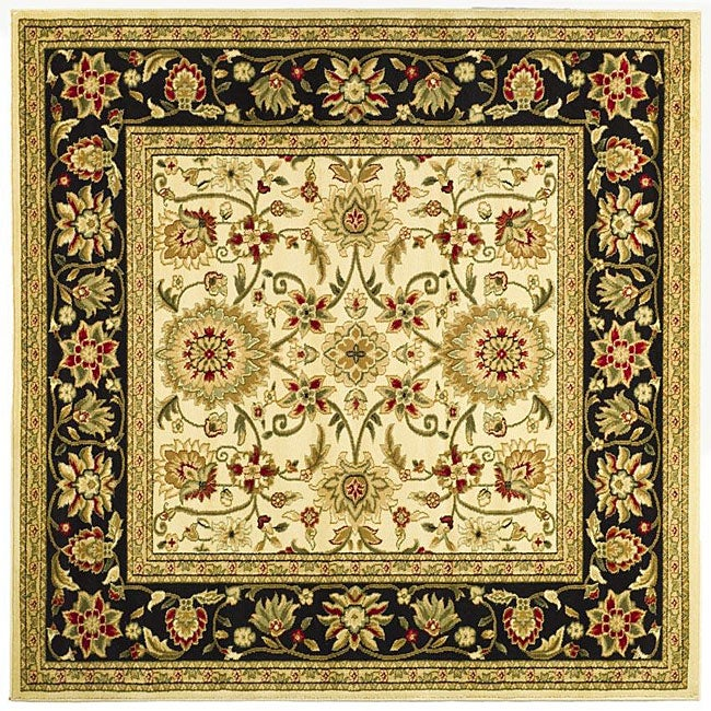 Safavieh Lyndhurst Collection Majestic Ivory/ Black Rug (8' Square)