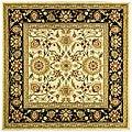 Lyndhurst Collection Majestic Ivory/ Black Rug (8' Square)
