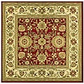 Lyndhurst Collection Majestic Red/ Ivory Rug (8' Square)