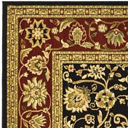Safavieh Lyndhurst Collection Majestic Black/ Red Runner (2'3 x 20')