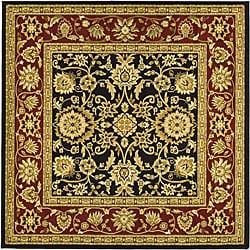 Safavieh Lyndhurst Collection Majestic Black/ Red Rug (8' Square)