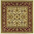 Safavieh Lyndhurst Collection Majestic Ivory/ Red Rug (8' Square)