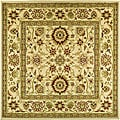 Lyndhurst Collection Majestic Ivory/ Ivory Rug (8' Square)