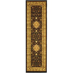 Safavieh Lyndhurst Collection Mashad Black/ Ivory Runner (2'3 x 20')