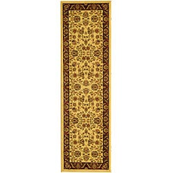 Safavieh Lyndhurst Collection Tabriz Ivory/ Red Runner (2'3 x 20')