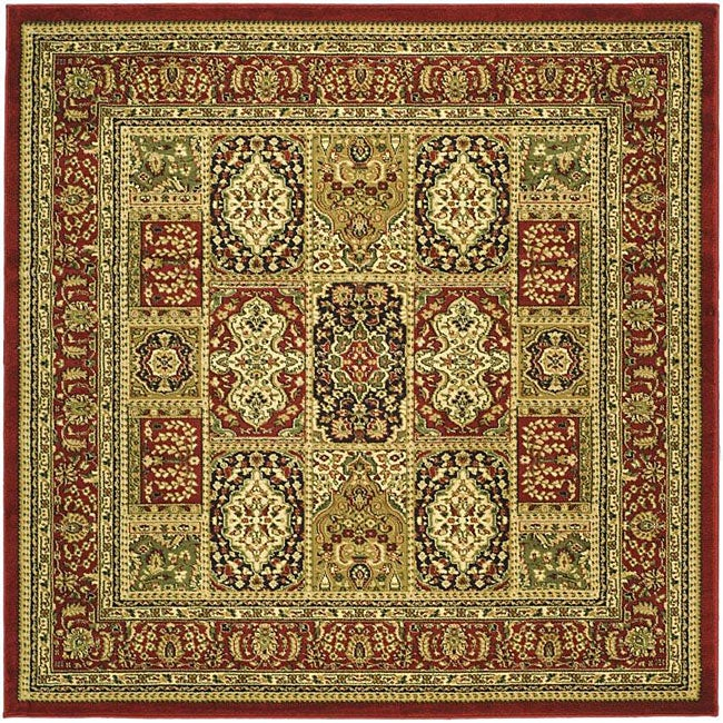 Lyndhurst Collection Isfan Red/ Multi Rug (8 Square)