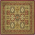Lyndhurst Collection Isfan Red/ Multi Rug (8' Square)
