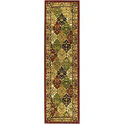 Safavieh Lyndhurst Collection Multicolor/ Red Runner (2'3 x 20')