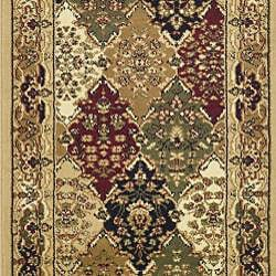 Lyndhurst Collection Multicolor/ Beige Runner (2'3 x 12')