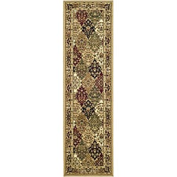Lyndhurst Collection Multicolor/ Beige Runner (2'3 x 8')