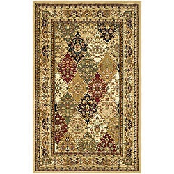 Lyndhurst Collection Multicolor/ Beige Rug (3'3 x 5'3)