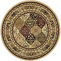 Lyndhurst Collection Multicolor/ Beige Rug (5' 3 Round)
