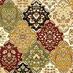 Lyndhurst Collection Multicolor/ Beige Rug (6' x 9')