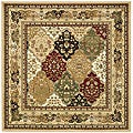 Lyndhurst Collection Multicolor/ Beige Rug (6' Square)