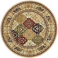 Lyndhurst Collection Multicolor/ Beige Rug (8' Round)
