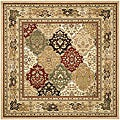 Lyndhurst Collection Multicolor/ Beige Rug (8' Square)