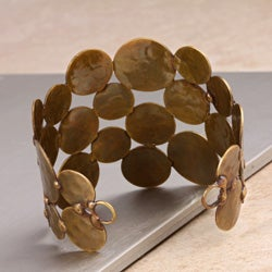 Brass-plated 'Circle of Life' Cuff Bracelet (India)