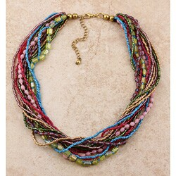 Multi-strand Rainbow Bead Necklace (India)