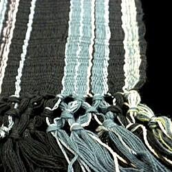 Backstrap-loomed Black San Juan Scarf (Guatemala)