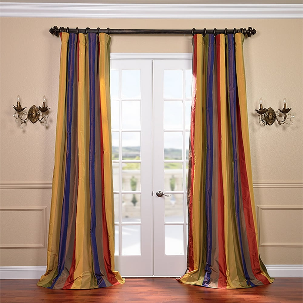 EFF Signature Stripe Faux Silk Taffeta 50x96-inch Curtain Panel at Sears.com