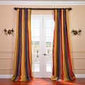 Signature Stripe Faux Silk Taffeta 50x96-inch Curtain Panel