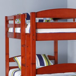 Solid Wood Cherry Twin/ Twin Bunk Bed