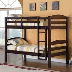 Solid Wood Espresso Twin/ Twin Bunk Bed