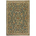 Hand-knotted Legacy Green New Zealand Wool Rug (9' x 13')