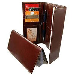 Castello Women's Checkbook Clutch Leather Wallet