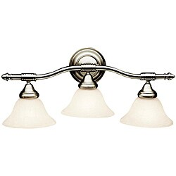 Broadview Fluorescent 3-light Brushed Nickel Wall-mount Light Fixture