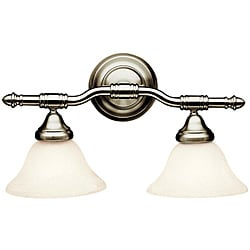 Broadview Fluorescent 2-light Brushed Nickel Wall-mount Light Fixture