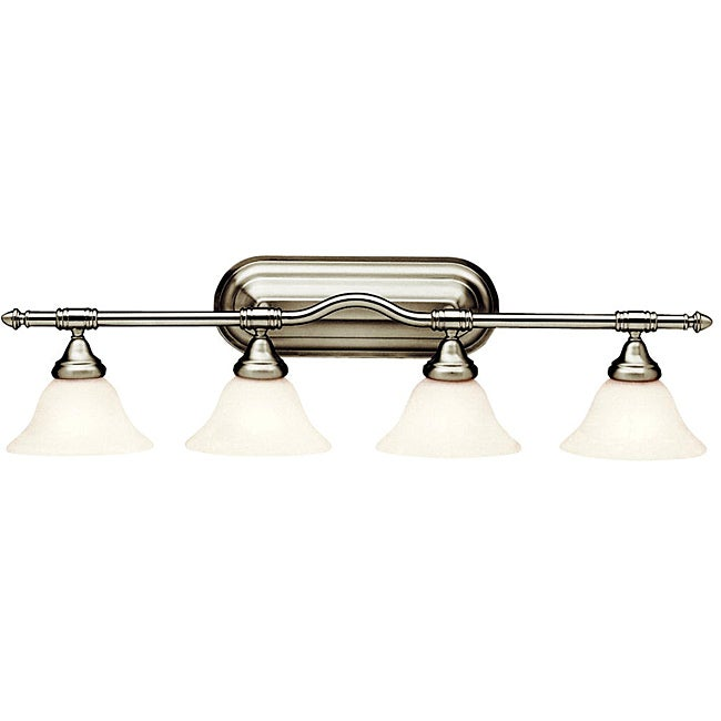 Broadview Fluorescent 4-light Brushed Nickel Wall-mount Light Fixture