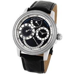 Stuhrling Original Men's Saturnalia Dual-time Automatic Watch
