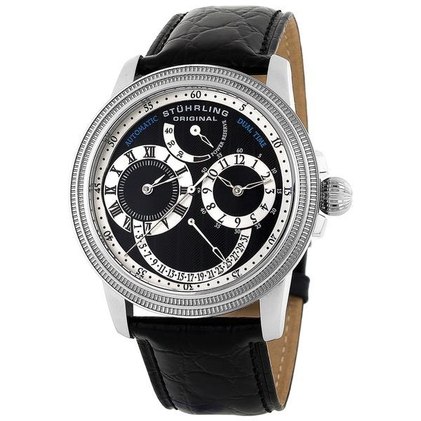 Stuhrling Original Men's Saturnalia Dual-time Automatic Watch