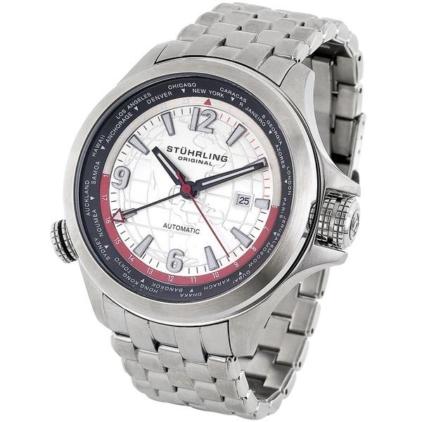 Stuhrling Original Men's Now Voyager World Time Watch
