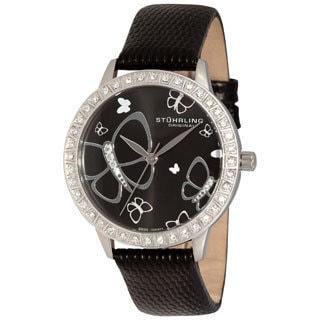 Stuhrling Original Women's Fantasia Stainless Steel Case Crystal Watch
