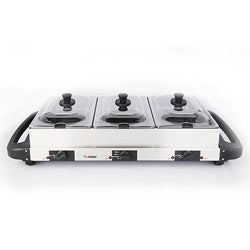 E-Ware Stainless Steel Multicooker Buffet Server and Grill