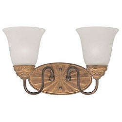 Villanova Colonial Bronze 2-light Wall Sconce