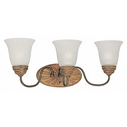 Villanova 3-light Colonial Bronze Wall Sconce