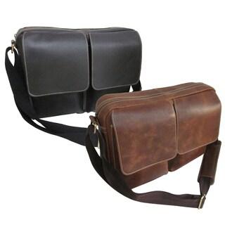 Amerileather Dual Flap Leather Briefcase