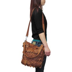 Amerileather Junior Hawk Leather Eco Shoulder Handbag