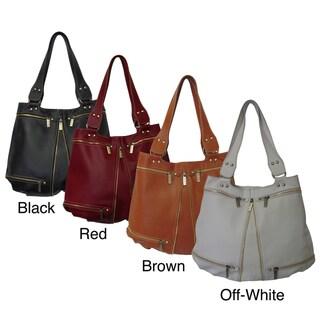 Amerileather Rila Zip Leather Shoulder Bag
