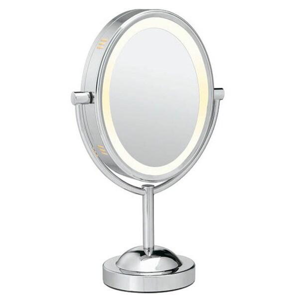 Conair Oval Chrome 1x-7x Double-sided Lighted Mirror