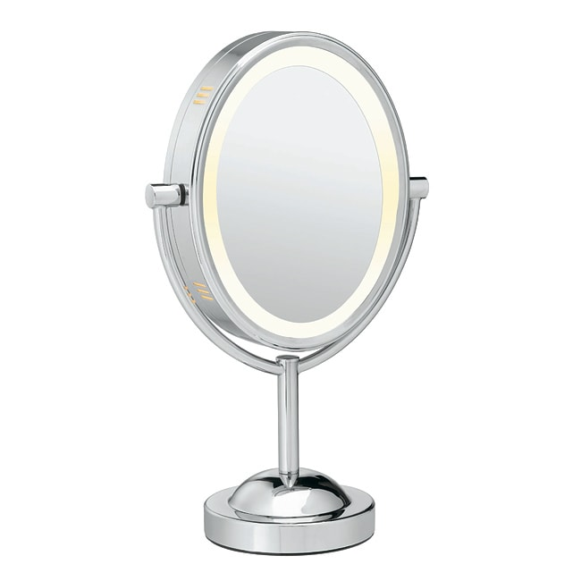 Conair Oval Chrome 1x-7x Double-sided Lighted Mirror
