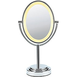 Conair Oval Polished Chrome Double Sided 1x-7x Illuminated Mirror