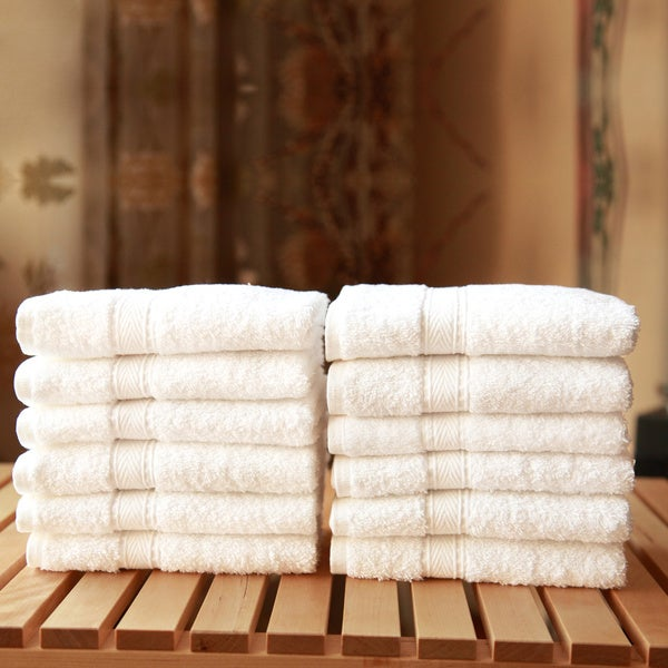 Authentic Hotel Spa Turkish Cotton Washcloth (Set of 12)