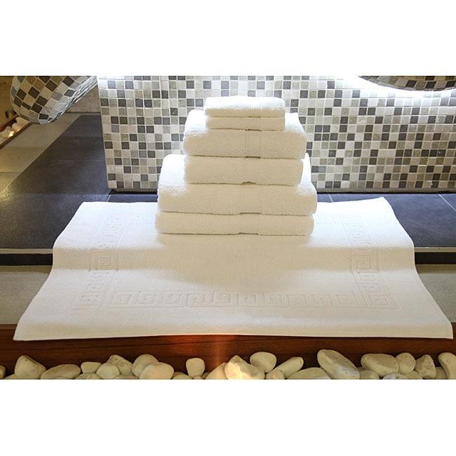 Authentic Hotel & Spa Turkish Cotton 7-piece Towel Set with Bath Mat