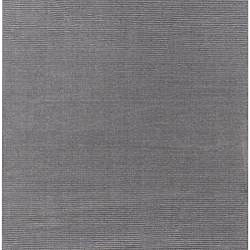Hand-crafted Solid Grey Casual Lyan Wool Rug (8' x 11')