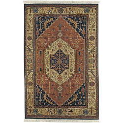 Hand-knotted Adana Semi-worsted New Zealand Wool Rug (5'6 x 8'6)