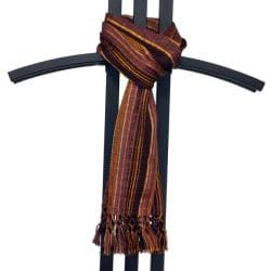 Backstrap Loom 'San Juan' Bronze Scarf (Guatemala)